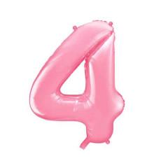 ballon chiffre 4 rose