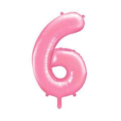 ballon chiffre 6 rose