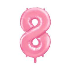 ballon chiffre 8 rose