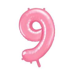 ballon chiffre 9 rose