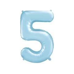 ballon chiffre 5 bleu ciel