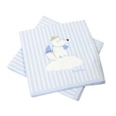 x20 Serviette Papier Babyshower bleu