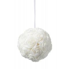 Boule de roses - blanche