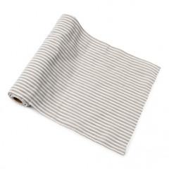 Rouleau rayé lin/blanc - 28cm x 5m