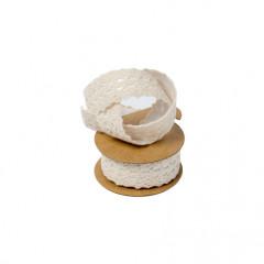 Dentelle adhésive ivoire - 2