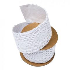 ruban adhésif dentelle blanc