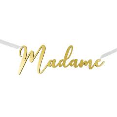 Décoration Madame métallisé Or