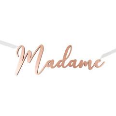 Décoration Madame métallisé Rose gold
