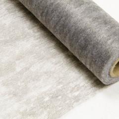 Chemin de table gris intisse en rouleau 10m x 29cm