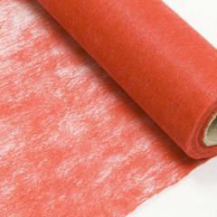 Chemin de table rouge intissé en rouleau 10m x 29cm