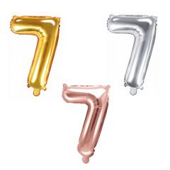 Ballon chiffre 7 - 35cm - Coloris au choix