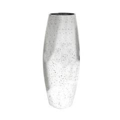 Vase métallisé argent 30cm
