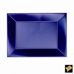 8 assiettes rectangulaire bleu perlé
