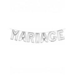 Ballon lettre Mariage argent