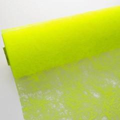 Chemin de table jaune fluo intisse en rouleau 10m x 29cm