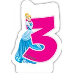 Bougie d'anniversaire 3 – Princesses Disney