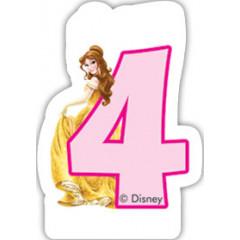 Bougie d'anniversaire 4 – Princesses Disney