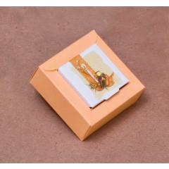 Boites à dragées Nina PM- orange 8 cm