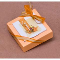 Boites à dragées Nina GM- orange 10,5 cm