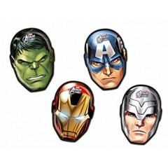 4 plats en carton Avengers
