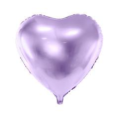 Ballon coeur lilas brillant