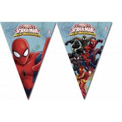 Guirlande à fanions Spiderman Web Warriors