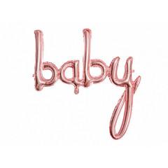 Ballon lettres baby rose gold