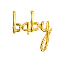 Ballon lettres baby jaune gold