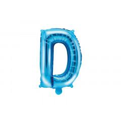 Ballon bleu lettre D - 36 cm