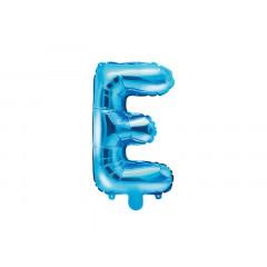 Ballon bleu lettre E - 36 cm