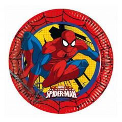 8 Assiettes Spiderman - 23 cm