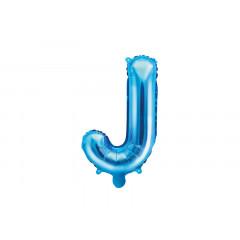 Ballon bleu lettre J - 36 cm