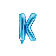 Ballon bleu lettre K - 36 cm