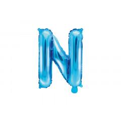 Ballon bleu lettre N - 36 cm