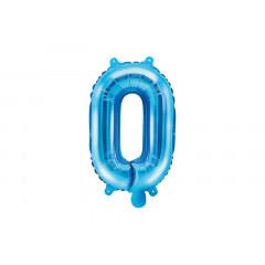 Ballon bleu lettre O - 36 cm