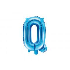 Ballon bleu lettre Q - 36 cm