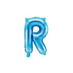 Ballon bleu lettre R - 36 cm