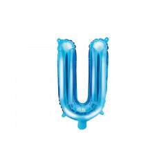 Ballon bleu lettre U - 36 cm