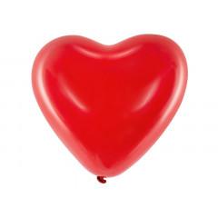 Ballon de Baudruche cœur Rouge x6