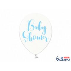 6 x Ballon de baudruche Baby Shower bleu