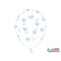 6 x Ballon de baudruche coeur Heart Bleu