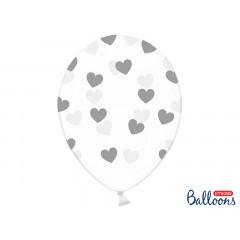 Ballon de baudruche coeur Heart Argent