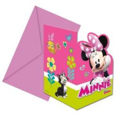 6 cartes d'invitation Minnie Helpers