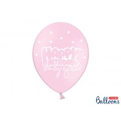 Ballon de baudruche Rose anniversaire Baby Girl