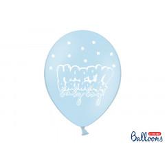 x6 Ballon de baudruche Bleu anniversaire Baby Boy