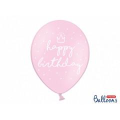Ballon de baudruche rose anniversaire fille