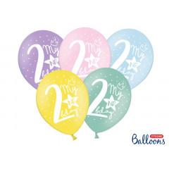 ballon multicolore anniversaire 2 ans