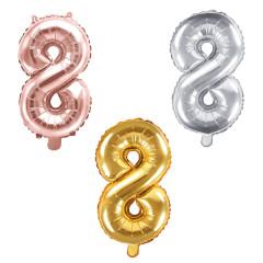 Ballon chiffre 8 - 86 cm - couleur au choix