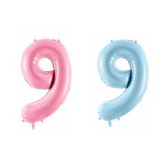Ballon chiffre 9 - 86 cm - couleur au choix