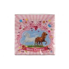 "20 serviettes ""mon cheval"""